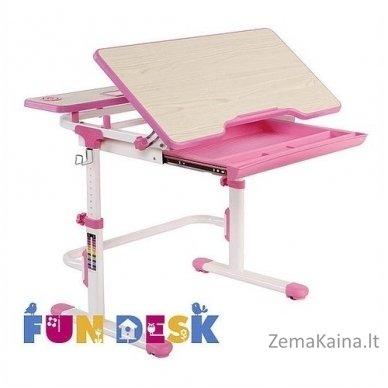 Augantis vaikiškas stalas transformeris FunDesk Lavoro L Pink 2
