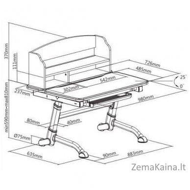 Augantis vaikiškas stalas FunDesk Volare II Grey 7