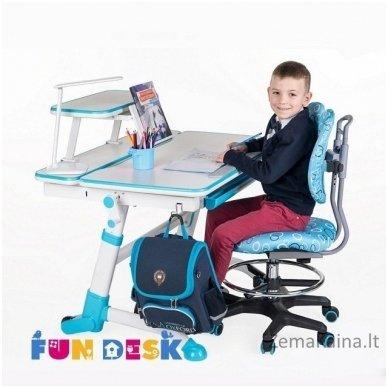 Augantis vaikiškas stalas transformeris FunDesk Volare Blue 7