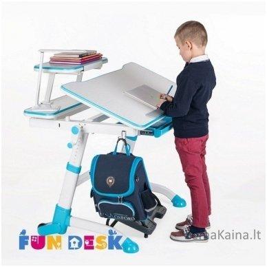 Augantis vaikiškas stalas transformeris FunDesk Volare Blue 6