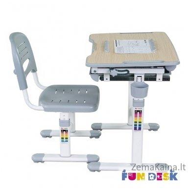 Augantis vaikiškas stalas transformeris ir kėdė FunDesk Bambino Grey 6