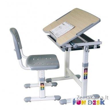 Augantis vaikiškas stalas transformeris ir kėdė FunDesk Piccolino Grey 4