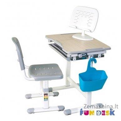 Augantis vaikiškas stalas transformeris ir kėdė FunDesk Piccolino Grey 2