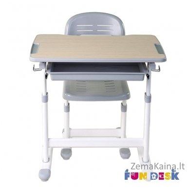 Augantis vaikiškas stalas transformeris ir kėdė FunDesk Piccolino Grey 7