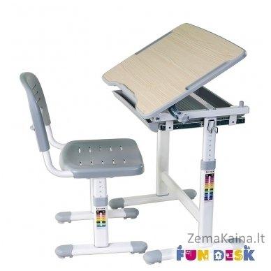 Augantis vaikiškas stalas transformeris ir kėdė FunDesk Piccolino Grey 6