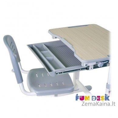Augantis vaikiškas stalas transformeris ir kėdė FunDesk Piccolino Grey 5