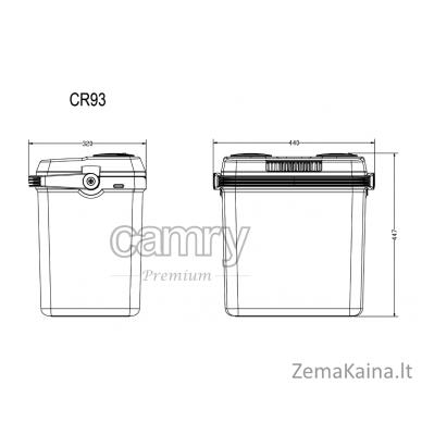 Automobilinis šaldytuvas CAMRY CR 93 (32 L) 5
