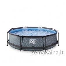 Baseinas EXIT Stone 300x76 cm, 4383 L - su filtru