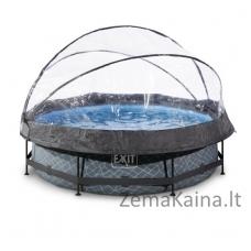 Baseinas EXIT Stone 300x76 cm, 4383 L - su stogeliu ir filtru