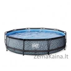 Baseinas EXIT Stone 360x76 cm, 6125 L - su filtru