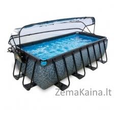 Baseinas EXIT Stone 400x200 cm, 7020 L - su stogeliu, kopėtėlėmis ir filtru