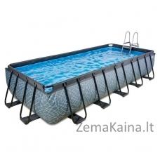 Baseinas EXIT Stone 540x250 cm, 12600 L - su kopėtėlėmis ir filtru