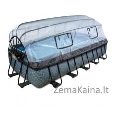 Baseinas EXIT Stone 540x250 cm, 12600 L - su stogeliu, kopėtėlėmis ir filtru