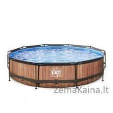 Baseinas EXIT Wood 360x76 cm, 6125 L - su filtru