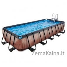 Baseinas EXIT Wood 540x250 cm, 12600 L - su kopėtėlėmis ir filtru