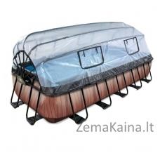 Baseinas EXIT Wood 540x250 cm, 12600 L - su stogeliu, kopėtėlėmis ir filtru
