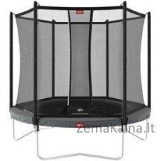 Batutas BERG Favorit Regular – 270 cm, pilkas, su saugos tinklu Comfort