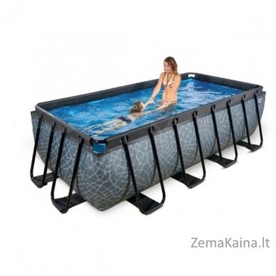 Baseinas EXIT Stone 400x200 cm, 7020 L - su kopėtėlėmis ir filtru 5