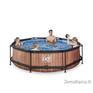 Baseinas EXIT Wood 300x76 cm, 4383 L - su filtru 3