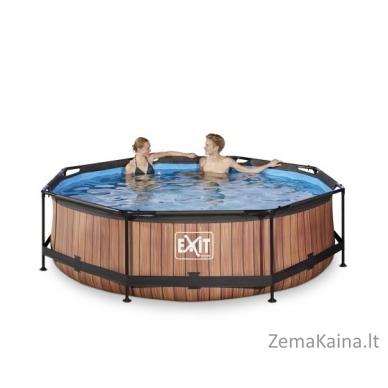 Baseinas EXIT Wood 300x76 cm, 4383 L - su filtru 4