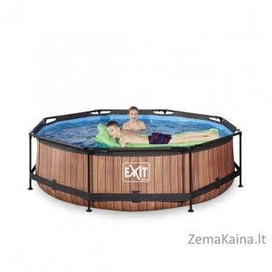 Baseinas EXIT Wood 300x76 cm, 4383 L - su filtru 5