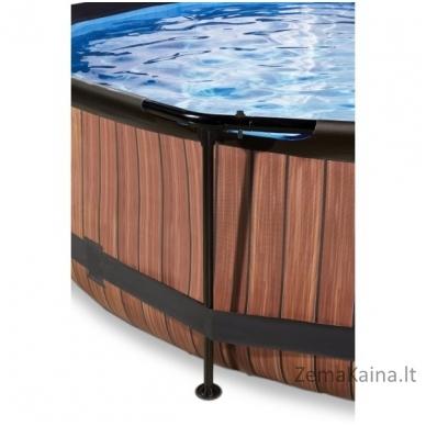 Baseinas EXIT Wood 300x76 cm, 4383 L - su stogeliu ir filtru 3