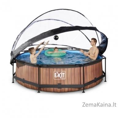 Baseinas EXIT Wood 300x76 cm, 4383 L - su stogeliu ir filtru 5