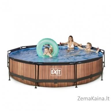 Baseinas EXIT Wood 360x76 cm, 6125 L - su filtru 3