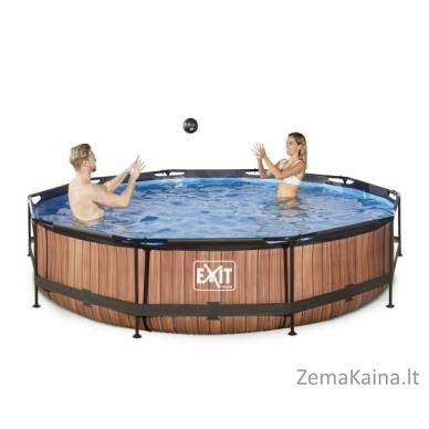Baseinas EXIT Wood 360x76 cm, 6125 L - su filtru 4