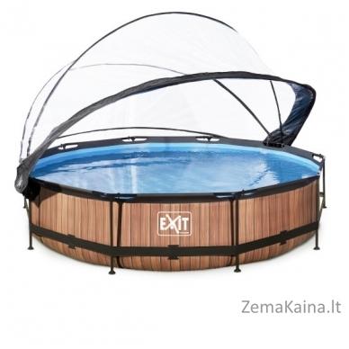 Baseinas EXIT Wood 360x76 cm, 6125 L - su stogeliu ir filtru 2