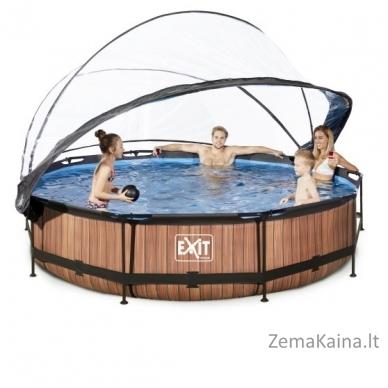 Baseinas EXIT Wood 360x76 cm, 6125 L - su stogeliu ir filtru 5