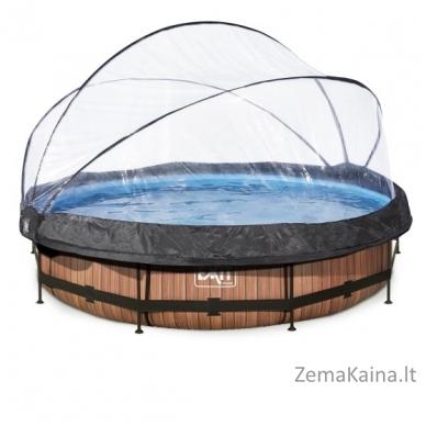 Baseinas EXIT Wood 360x76 cm, 6125 L - su stogeliu ir filtru