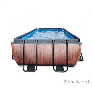 Baseinas EXIT Wood 400x200 cm, 7020 L - su kopėtėlėmis ir filtru 2