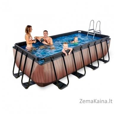 Baseinas EXIT Wood 400x200 cm, 7020 L - su kopėtėlėmis ir filtru 5
