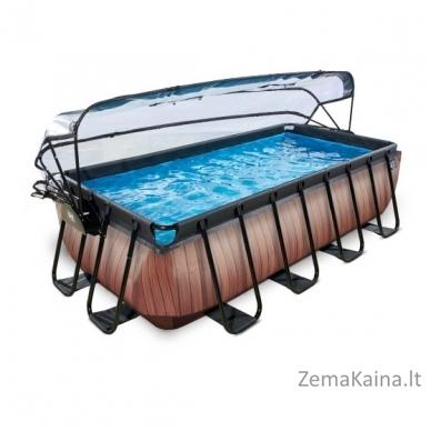 Baseinas EXIT Wood 400x200 cm, 7020 L - su stogeliu, kopėtėlėmis ir filtru 2