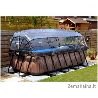 Baseinas EXIT Wood 400x200 cm, 7020 L - su stogeliu, kopėtėlėmis ir filtru 4