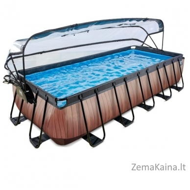 Baseinas EXIT Wood 540x250 cm, 12600 L - su stogeliu, kopėtėlėmis ir filtru 2