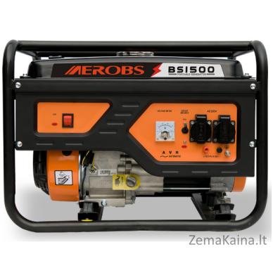 Benzininis generatorius AEROBS BSGE1500 2