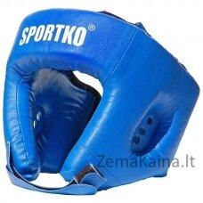 Bokso galvos apsauga - šalmas SportKO OD1 -  Blue  M