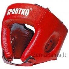 Bokso galvos apsauga - šalmas SportKO OD1 - Red XL