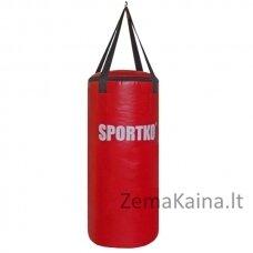 Bokso maišas vaikams SportKO MP6 29x75cm - Red