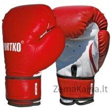Bokso pirštinės SportKO PD2 - Red 12 oz