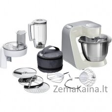 Bosch MUM58L20 virtuvinis kombainas 3,9 L Pilka, Nerūdijančiojo plieno, Balta 1000 W