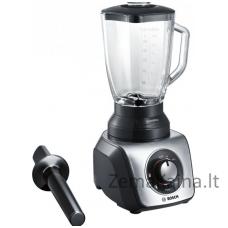 Kokteilinė Bosch SilentMixx MMB65GM Black/Stainless steel, 800 W, Glass ThermoSafe, 2.3 L,