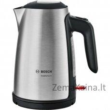 Bosch TWK6A813 elektrinis virdulys 1,7 L Juoda, Nerūdijančiojo plieno 2400 W
