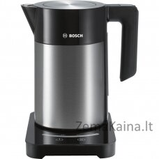 Bosch TWK7203 elektrinis virdulys 1,7 L Juoda, Nerūdijančiojo plieno 1850 W