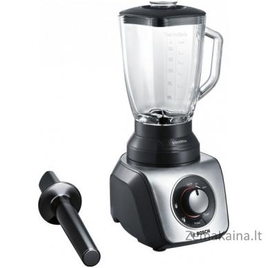 Kokteilinė Bosch SilentMixx MMB65GM Black/Stainless steel, 800 W, Glass ThermoSafe, 2.3 L,