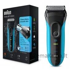 Braun Series 3 3010 Wet & Dry Foil shaver Trimmer Black, Blue