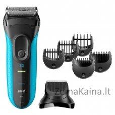 Braun Series 3 Shave&Style 3010BT Skustuvas Apkarpymo mašinėlė Juoda, Mėlyna