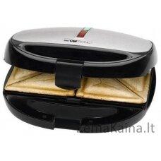 Clatronic ST/WA 3670 sumuštinių keptuvė 800 W Juoda, Nerūdijančiojo plieno
